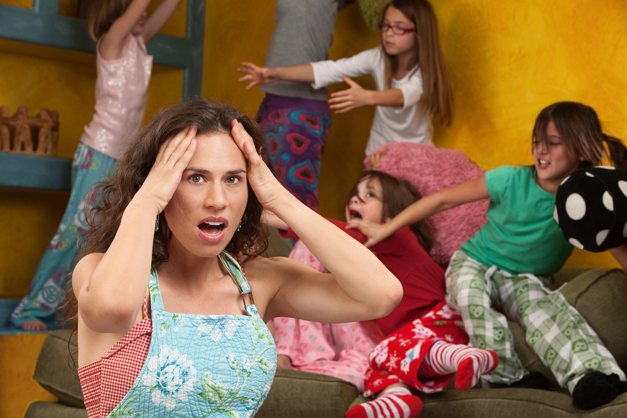 A parent experiencing momentary stress